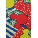 LuLaRoe Disney Irma (Large) Yellow Red Blue Mickey