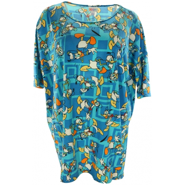 LuLaRoe Disney Irma (Large) Donald on lite blue
