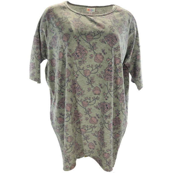 LuLaRoe Disney Irma (Medium) Miss Piggy on Gray