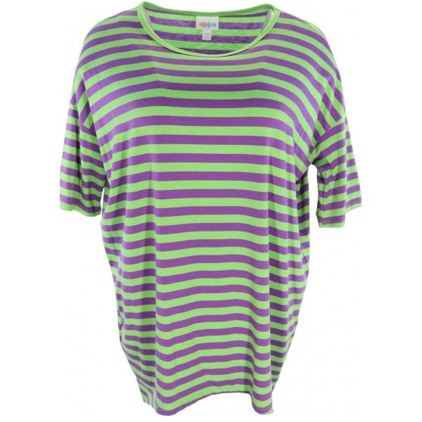 LuLaRoe Irma (XS) Green purple stripes