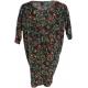 LuLaRoe Irma (XS) Red Flowers on Black