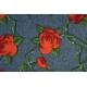 LuLaRoe Jess (Small) Roses on Blue