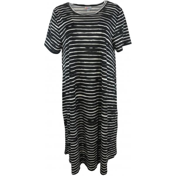 LuLaRoe Jessie (2XL) Black White Stripes