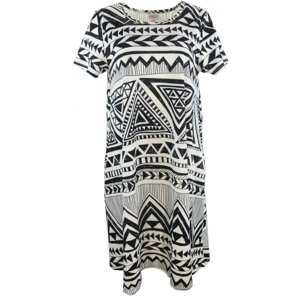 LuLaRoe Jessie (Medium) Black White Patterns