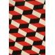 LuLaRoe Julia (2XS) black red white squares