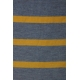 LuLaRoe Julia (Large) Yellow blue stripes