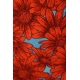 LuLaRoe Julia (Large) Large Red Flowers