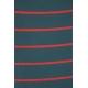 LuLaRoe Julia (Large) Pink Stripes on Blue