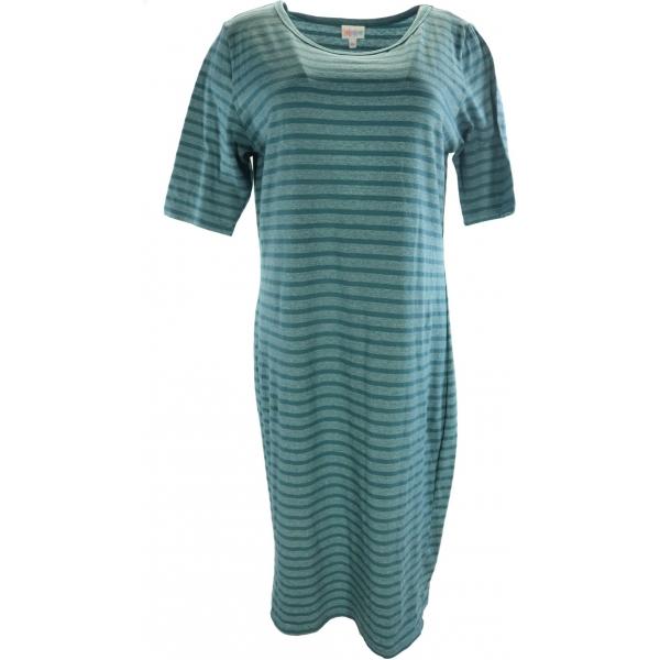 LuLaRoe Julia (XL) Blue Stripes