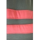 LuLaRoe Julia (XS) Gray with pink stripes