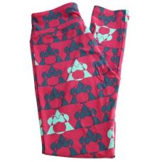 LuLaRoe Leggings (OS) Disney Minnie Triangles on red