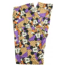 LuLaRoe Leggings (OS) Disney Mickey with yellow, purple stripe