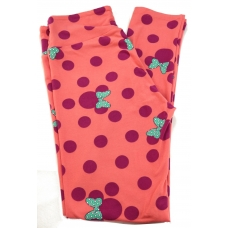 LuLaRoe Leggings (OS) Disney Minnie Red dots on red