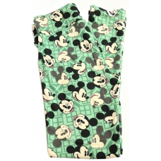 LuLaRoe Leggings (OS) Disney Winking Mickey on green
