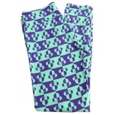 LuLaRoe Leggings (OS) Disney Blue/Blue Minnie with Bow