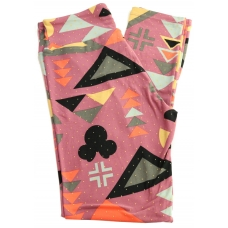 LuLaRoe Leggings (OS) Disney Mickey with Patterns on Pink
