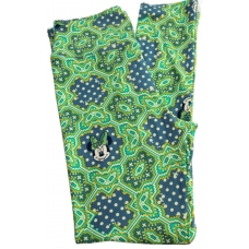 LuLaRoe Leggings (OS) Disney Minnie with bow on green and blue