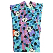 LuLaRoe Leggings (OS) Disney Minnie on patterns and blue