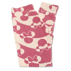 LuLaRoe Leggings (OS) Disney pink/lite pink Minnie mouse heads