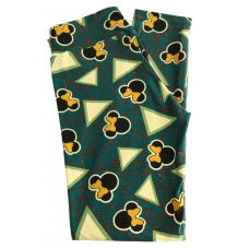 LuLaRoe Leggings (OS) Disney Minnie with bows on green and white