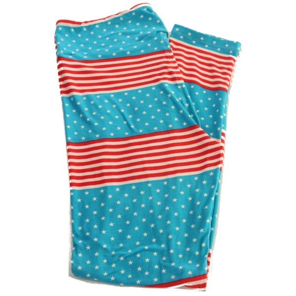 LuLaRoe Leggings (TC) #443 4th of July