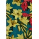 LuLaRoe Madison (Small) Red Yellow Flowers