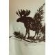 LuLaRoe Mark (Large) White with moose