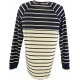 LuLaRoe Mark (Medium) blue and white stripes
