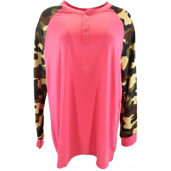LuLaRoe Mark (XL) Pink and cammo