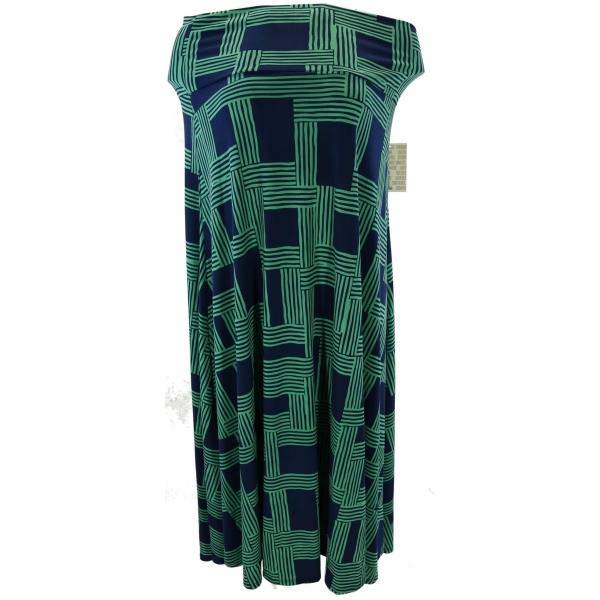 LuLaRoe Maxi (Large) green patterns on green