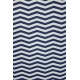 LuLaRoe Nicki (Medium) Blue White ZigZags