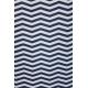 LuLaRoe Nicki (Medium) Blue White ZigZags