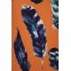 LuLaRoe Nicki (Medium) Feathers on Orange