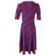 LuLaRoe Nicole (Medium) Red and blue stripes