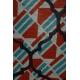 LuLaRoe PerfectT (2XL) Blue Red Patterns on Gray