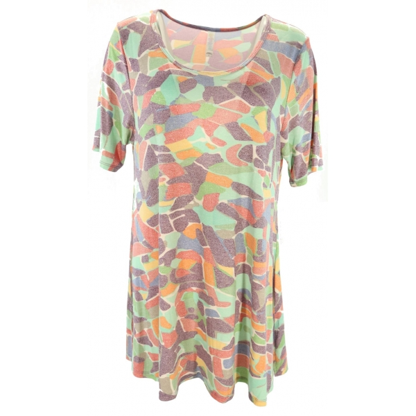 LuLaRoe PerfectT (Large) heatherd multi-colored patterns