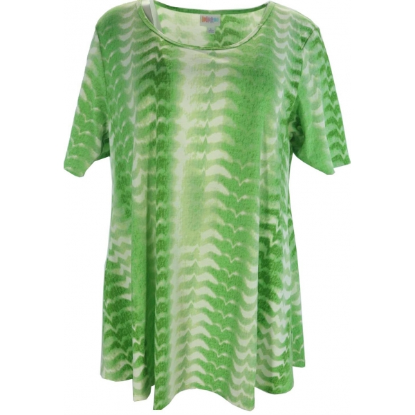 LuLaRoe PerfectT (large) Green and white patterns