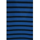 LuLaRoe PerfectT (Medium) Black and blue stgripes