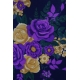 LuLaRoe PerfectT (Small) Purple Flowers
