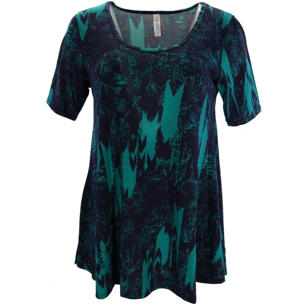 LuLaRoe PerfectT (XS) Green Patterns