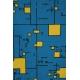 LuLaRoe Randy (2XL) Yellow patterns on Blue