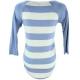 LuLaRoe Randy (2XS) Blue and Gray Stripes