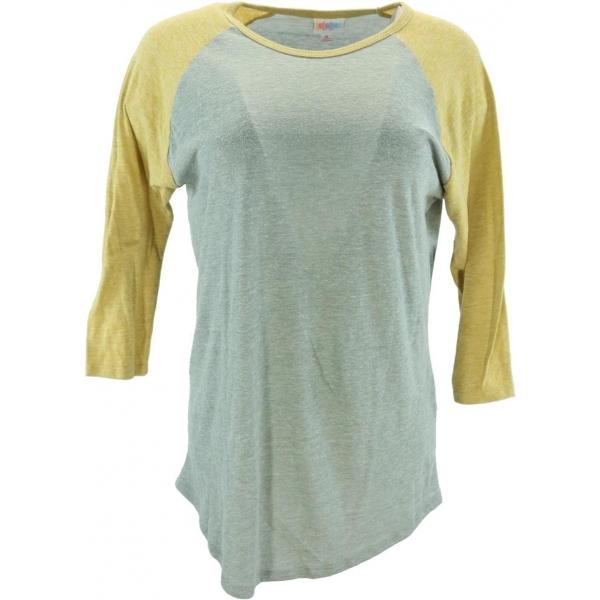 LuLaRoe Randy (Medium) Solid Yellow and Gray