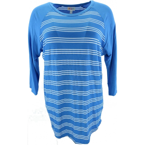 LuLaRoe Randy (Medium) Blue and white stripes