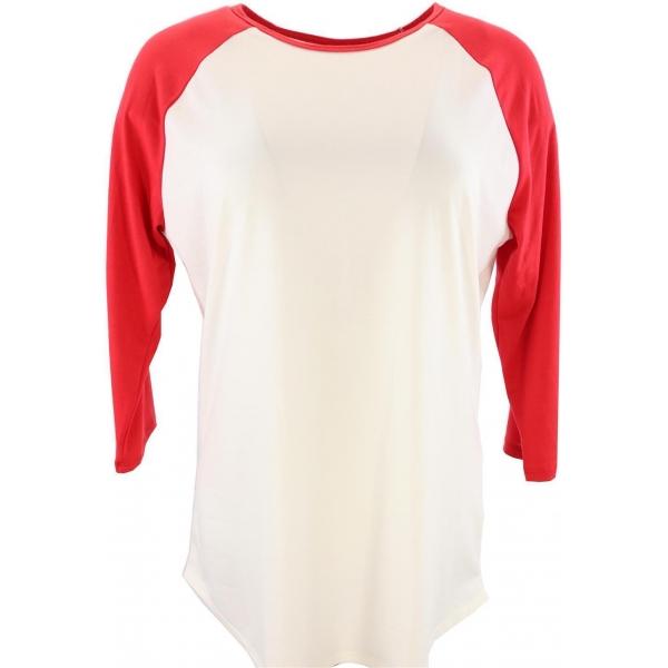 LuLaRoe Randy (Medium) Red and White