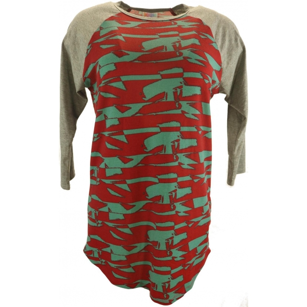 LuLaRoe Randy (Small) Red Green Patterns