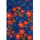 LuLaRoe Randy (XL) Red flowers on blue