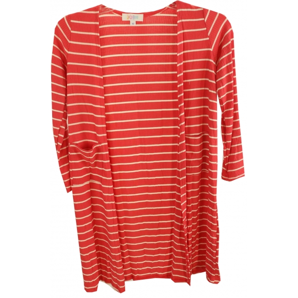 LuLaRoe Sariah (10) Red White Stripes