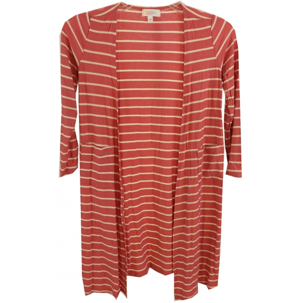 LuLaRoe Sariah (10) Pink White Stripes
