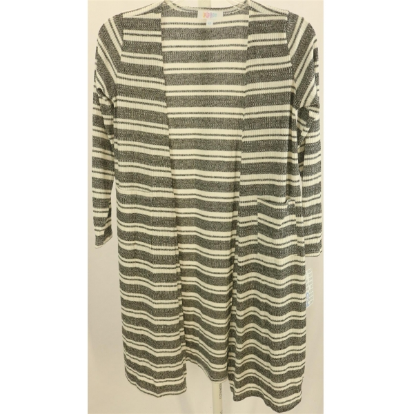 LuLaRoe Sariah (12) Black White Stripes